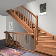 Поставка деревянных лестниц фото