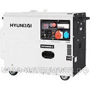 Генератор дизельный Hyundai DHY6000SE-3, 400 В, 5.0 кВт, электростартер, 152 кг, professional фото