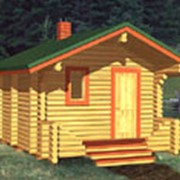 Баня рубленая деревянная фото