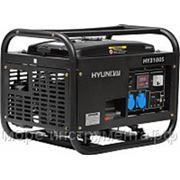 Генератор бензиновый Hyundai HY3100S, 230 В, 2.5 кВт, ручной запуск, 50 кг, professional фото