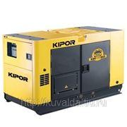 Электростанция дизельная с жидкостным охлаждением KIPOR KDE100SS3 в звукоизолирующем корпусе KIPOR фото