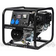 Генератор бензиновый Hyundai HY7000, 230 В, 5.0 кВт, ручной запуск, 64 кг, professional фото
