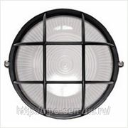 Светильник НПП 2602 черный/круг с решеткой пластик 60Вт IP54 ИЭК фото