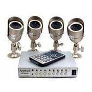 Система на 4 цифровые камеры с записью фото