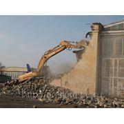 Снос зданий и сооружений фото