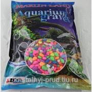 Камушки для аквариума разноцветные 1-1,5см (3кг)