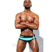 Плавки мужские AQUX мод. 3001 лазурная полоса фото