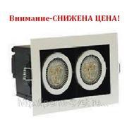 Светодиодный карданный светильник DLS-003/2 170х98х120 345Лм 7.7W Алюминиевый сплав Черный и серебро фото