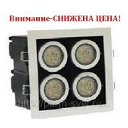 Светодиодный карданный светильник DLS-003/4 170х170х120 680Лм 15.7W Алюминиевый сплав Черный и серебро