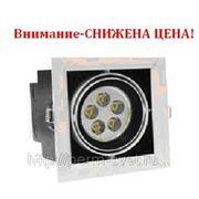 Светодиодный карданный светильник DLS-002/1 140х140х140 315Лм 7.6W Алюминиевый сплав Черный и серебро