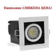 Светодиодный карданный светильник DLS-003/1 98х98х135 170Лм 3.9W Алюминиевый сплав Черный и серебро