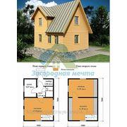 Каркасно-щитовой дом 5х7.Проект 22К фото