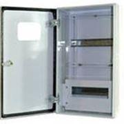 Щит учетно-распределительный навесной ЩУРн 1/12бел. глц с шинами и окном IP31 (395х310х165) EKF фото