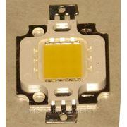 Мощный светодиод 10 Вт тёплый белый свет. фото