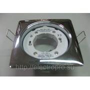 Светильник встраиваемый GX53 H4 квадрат 41х107 (хром) фото