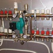 Узел регулирования теплого пола без шкафа 3 отвода левый Herz фото