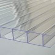 """Сотовый поликарбонат Sotalight прозрачный """"Econom"""" 6000х2100 мм, 4 мм с односторонней защитой от УФ, гарантия 10 лет. фото"""