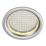 Светильник встраиваемый с блоком питания и 97 белыми теплыми LED общ 12Вт, LEDPANEL ROUND белый 160372