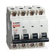 Автоматический выключатель ВА 47-63, 4P 4,5kA (С) 6,10,16,20,25,32,40,50,63А EKF фото