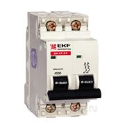 Автоматический выключатель ВА 47-63, 2P 4,5kA (С) 6,10,16,20,25,32,40А EKF фото