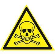 Знак «Опасно. Ядовитые вещества» фото