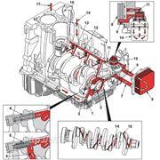 Схема системы смазки двигателя Cummins ISF 2.8 фото