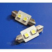 Автомобильные светодиодные лампы T10-37 2 SMD фото