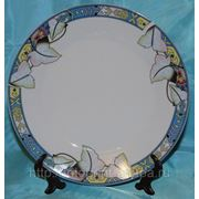 Фото на тарелке Кайма листья, 20 см фото