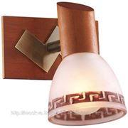 Подсветка Odeon Light 1970/1W VARIO ODL09 388 бронза / дерево E14 1x40W фото