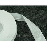 Лента тканная БЕЛЫЙ 40мм*10ярд 5246 фото