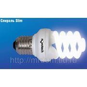 Желт.свет e27 25w лампа энергосберег. спираль slim (708408)