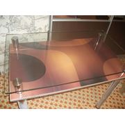 Стеклянный стол с фото №39