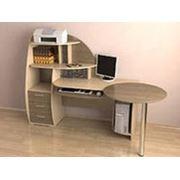 стол компьютерный с радиусами Ск-2 фото