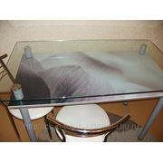 Стеклянный стол с фото № 40