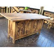 Стол из дерева обеденный кухонный фото