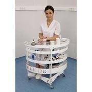 Столик ПАНОК-1 мобильный медицинский овальный фото