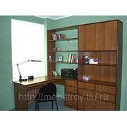 Стол письменный с тумбой и шкафом на заказ. фото