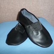 Чешки кожаные черные фото