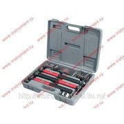 Набор рихтовочный, 3 молотка с фибергласовыми ручками, 4 наковальни, MATRIX 10845 фото