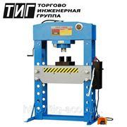 Пресс напольный пневмогидравлический 100 тонн NORDBERG ручной и пневматический привод фото