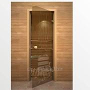 Дверь Банька, бронза кноб сосна фото