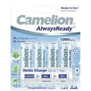 Аккумулятор 1.2в camelion aa-1000mah ni-mh always ready bl-4, 10649 фото