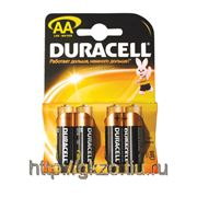 Батарейка DURACELL AA LR6 4шт на блистере фото