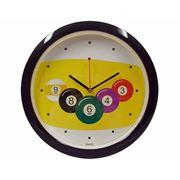 Часы настенные D29 см черные фото