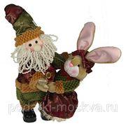 """Игрушка механич. музык. """"Кролик с Дедом Морозом"""" 41см 76817 фото"""
