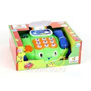 Каталка 7068 телефон на колесах, со светом и звуком, на батарейках, в коробке 29*24*12см joy toy (835652) фото