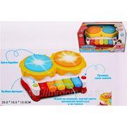 """Ксилофон 7103 """"веселая мелодия"""" обучающий, со светом и звуком, батарейках, в коробке 26*16*13см joy toy (832179) фото"""