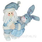 """Игрушка механич. музык. """"Кролик с Дедом Морозом"""" 41см 76823 фото"""