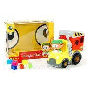 Машина be2003 грузовик с логикой, со звуком на батарейках в коробке 21*12*16,5см (833508) фото