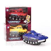 "Танк 6368-08 трансформер ""троян""со звуком, на батарейках в коробке 19,5*11,5*13см (835981) фото"